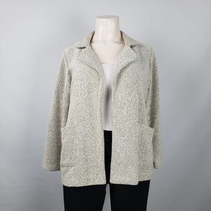 Baccini White Cotton Light Jacket Sweater Size 1X